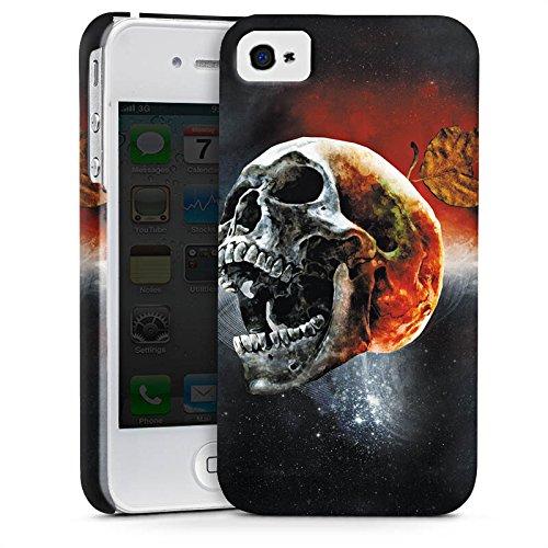 Apple iPhone X Silikon Hülle Case Schutzhülle Totenschädel Kopf Scream Premium Case glänzend