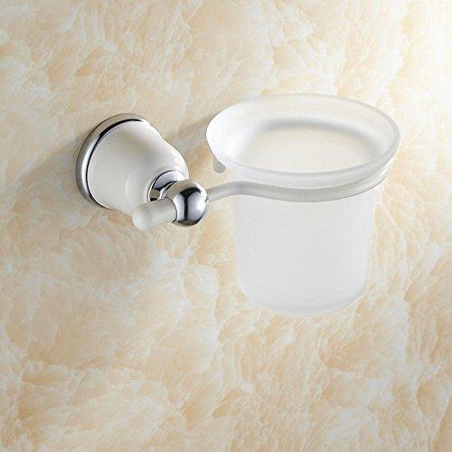 SSBYLega rame-stile cotto scopino di bianco finitura cromo lucido, hardware di servizi igienici dedicati con base di montaggio sulla parete porta scopino