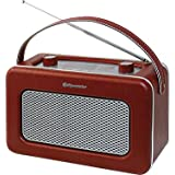 Roadstar TRA-1958/BG Radio Portable de Design Retro Vintage Tuner PO/FM Marron
