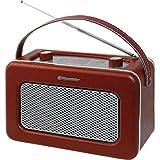 Roadstar TRA-1958/BG Radio Portable de Design Retro Vintage Tuner PO/FM Marron