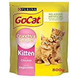 Go-Cat Crunchy and Tender Kitten Dry Cat Food Chicken 800g - Case of