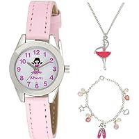 """RAVEL - orologio per bambini""""Little Gems"""" per bambini e set regalo di gioielli placcati in argento"""