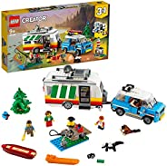 LEGO Creator Caravan Family Holiday 31108 Toy for Boys and Girls 9+ years old, 3in1 building set with 3 minifi
