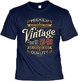 Herren Geburtstag T-Shirt - 70 Jahre - 100% Premium Vintage Seit 1948 - lustige Shirts 4 Heroes Geschenk-Set Bedruckt mit Urkunde