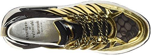 Barracuda Bd0694, Sneakers basses femme Multicolore (Nero/Oro)