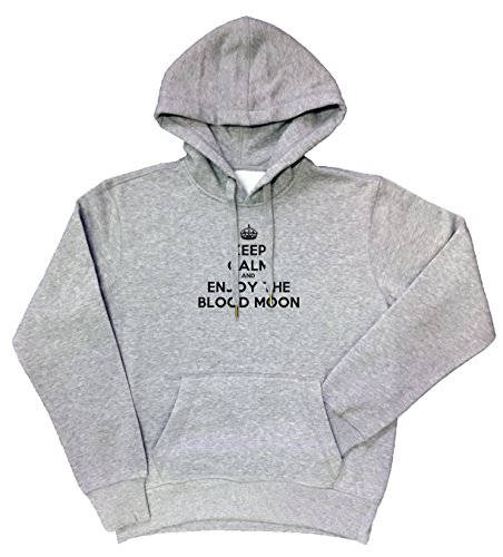 keep-calm-and-enjoy-the-blood-moon-grau-baumwolle-herren-sweatshirt-pullover-kapuzenpullover-grey-me