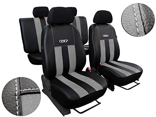 Preisvergleich Produktbild Maßgefertigte Sitzbezüge für AMAROK. Design GT (GT Hellgrau)