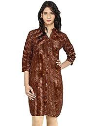Om trading Women Front Slit Cotton Kurti