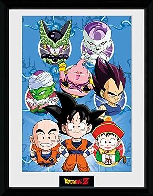 Dragonball Z Poster De Collection Encadré - Chibi Characters (40 x 30 cm)