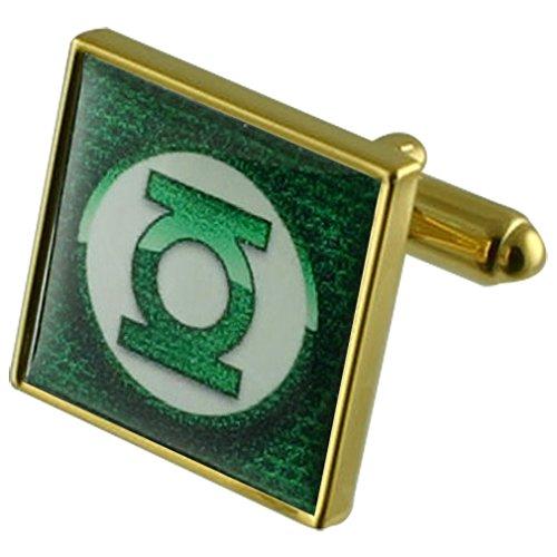Grüne Laterne gold Manschettenknöpfe Wählen Sie Geschenke Beutel