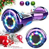 RCB 6.5' Patinete Eléctrico Self Balancing Scooter con LED Luces con Bluetooth...