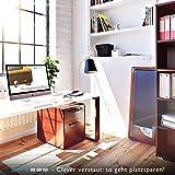 DESKFIT DFT200 Laufband für / unter Schreibtisch - fit und gesund im Büro & zu Hause. Bewegen und ergonomisches Arbeiten, keine Rückenschmerzen - mit praktischer Tablet-Halterung, Fernbedienung und App (Dunkelbraun) - 9