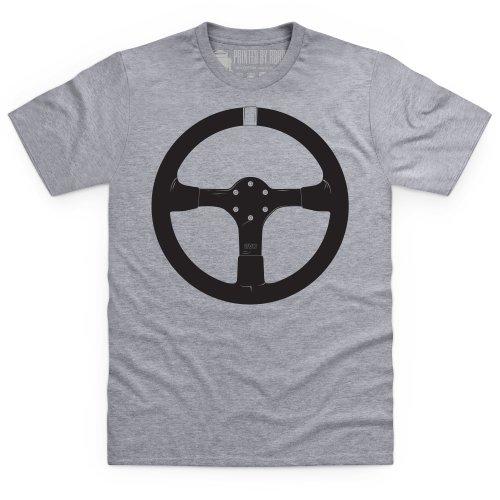 evo Steering Wheel T-Shirt, Herren Grau Meliert