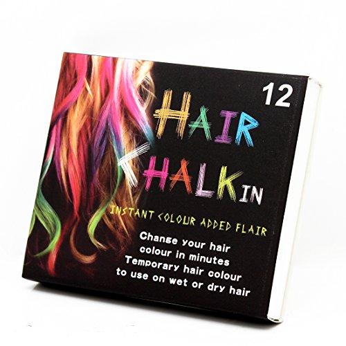 Zerama 12 Farben Kurzes Haar Kreide-Farben-Färbungs Pastels Salon Kit