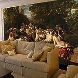 L22LW Wandbild Esszimmer Wohnzimmer Wandmalereien Europäische Gemälde Im Hintergrund Tapete Badewanne Von Lady Portrait Gemälde, 336 Cm * 236 Cm (H)