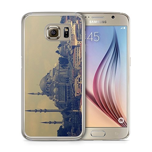 Sultan Ahmed Camii - Handy Hülle für Samsung Galaxy S6 Edge - Schutz Cover Case Schale Istanbul Türkei Türkiye Islam Moschee