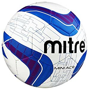 Mitre Mini Ace Recreational Football - White/Navy/Purple, Small
