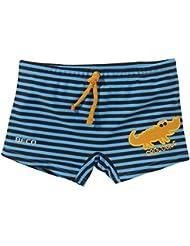 Beco - Bañador para niño, diseño cocodrilo-agua, niño, Badehose Krokodil-Aqua, Marine/Blau/Orange, 92