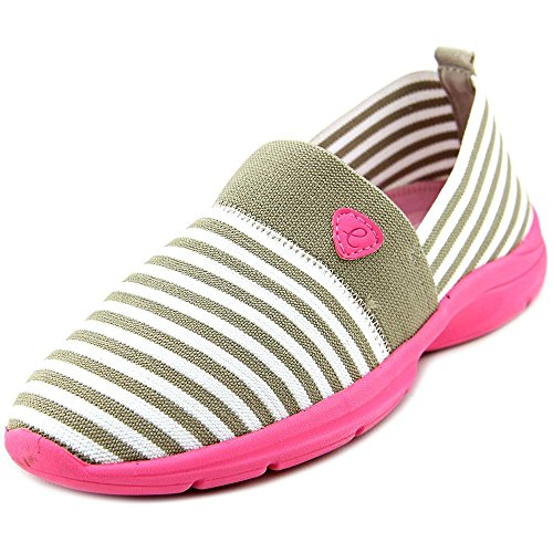 Easy Spirit e360 Quiet Step Femmes Large Toile Chaussure de Marche Light Taupe.