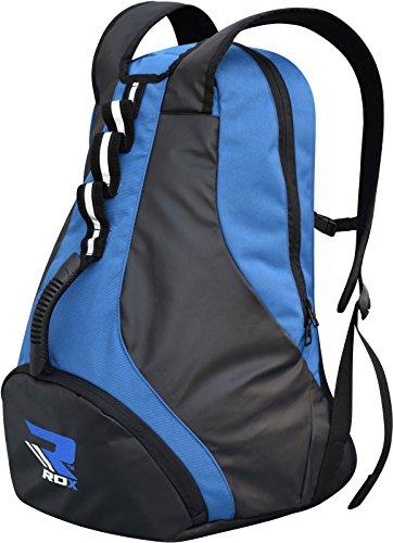 RDX Gym Sporttasche Backpack Duffle bag Tasche Sport Schultertaschen Rucksack Fitnesstasche Reisetasche Fußballtasche Blau