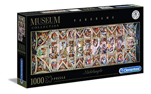 Clementoni 39498 Clementoni-39498-Vatican Collection-Michelangelo-Decke der Sixtinischen Kapelle-1000 Teile, Mehrfarben