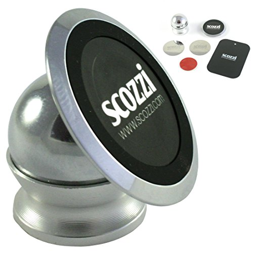 scozzi 360° Armaturenbrett KFZ Auto Handy Magnet Halterung Halter universal (Magnet 4 Chrome)