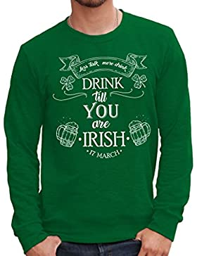 Felpa Girocollo DRINK TILL YOU ARE IRISH - MUSH by Mush Dress Your Style