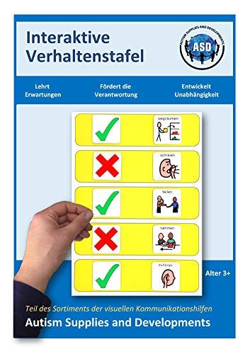 Autism Supplies And Developments-Tablero de Comportamiento Visual Interactivo de plástico (alemán) (DE_INT)