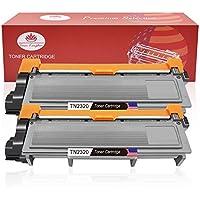 Toner Kingdom 2 Pack cartucho de tóner Compatible Brother TN2320 para su uso en Brother HL-L2300D HL-L2320D HL-L2340DW HL-L2360DN HL-L2360DW HL-L2365DW HL-L2380DW DCP-L2500D DCP-L2520DW DCP-L2540DN DCP-L2560DW MFC-L2700DW MFC -L2720DW MFC-L2740DW