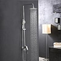 BY-Nuovo rame caldo e doccia fredda insieme, funzionale bagno doccia, vasca da bagno rubinetto a casa,