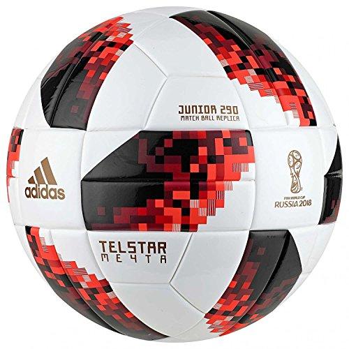 adidas Herren FIFA Fussball-Weltmeisterschaft Knockout Junior Ball, White/Solred/Black, 5