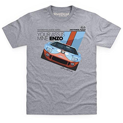 Jon Forde Yours Is Mine T-Shirt, Herren Grau Meliert