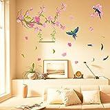 ALLDOLWEGE Art Aufkleber Aufkleber Wandhalterung TV-Wand Aufkleber für das Schlafsofa romantisches...