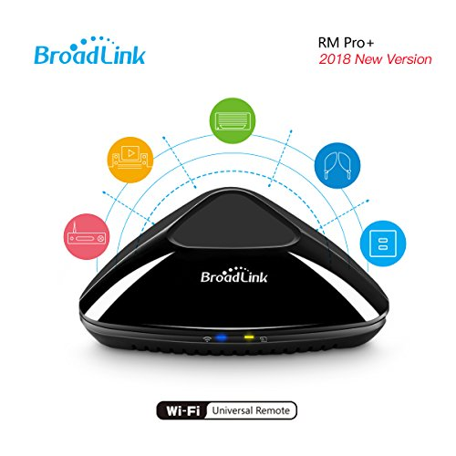 Broadlink RM Pro+ WIFI Smart Home All in One Automatisierung Learning Universal Remote Controller kompatibel für iOS/Android-Geräte (schwarz, UK Standard)