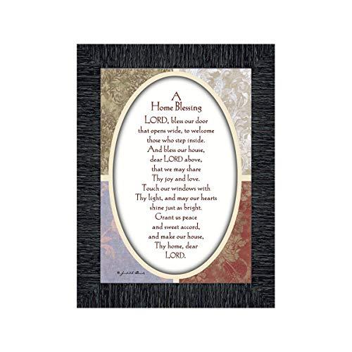 Vintage A Home Segen, Gedicht Asking der Herr für Segen über Ihr Zuhause, 7x 977959 7x9 Anthrazit
