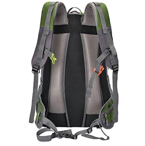 60L Outdoor-Bergsteigen Tasche Wandern Wasserdicht Anti-Zerreißen Großer Kapazitäts-Rucksack,Black ArmyGreen