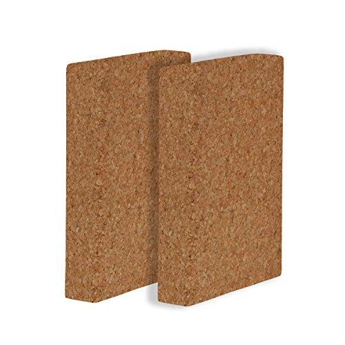 Schulterstandplatte (1 Stk.), Kork Block flach, natur, Yoga Hilfsmittel, Yogazubehör
