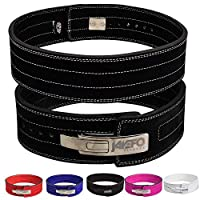 """Jayefo Genuine Leather Lever Belt for Powerlifting Men & Women 10MM Thick 4"""" Wide Easy to USE Workout Deadlifts Squats Medium"""
