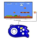QINGSHE Mini TV Handheld Game Console Player for Kids,Connect and Play 89 in 1 Retro Classic Games,Old School Arcade Style Plug & Play Video Games Controller for Children Boys Girls 4-12 Years Old-Blue