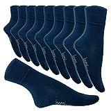 5-10 Paar Bambus Socken Herren Bambussocken Normallang Damen (35-38, 10 Paar Jeans)