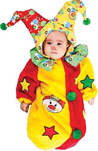 COSTUME di CARNEVALE da SACCOTTINO PAGLIACCETTO vestito per neonato bambino  0-3 Mesi travestimento veneziano 6913c4d0ccf