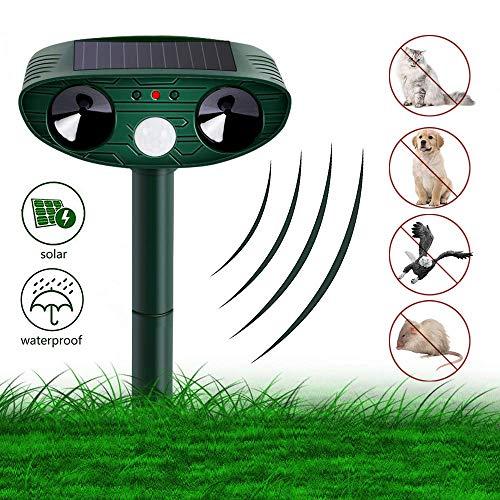 k Ultraschall Solar, Wasser Tiervertreiber Ultraschall solar katzenschreck vogelabwehr hundeschreck, cat Repellent für Katzen, Hunde, Schädlinge, Marderabwehr ()