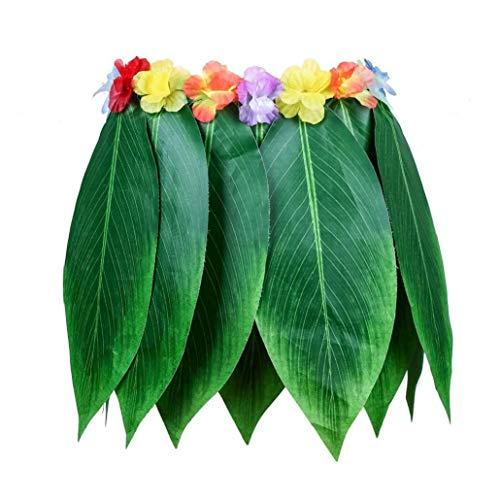 AMOYER 1pc Simulation Blatt Garland Blatt Rock Baströckchen Für Erwachsene Und Kinder Für Hawaiische Strand-Themed Dekoration Partyangebot (23 Inch)