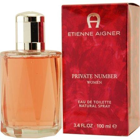 Etienne Aigner Private Number Eau De Toilette Spray for Women, 3.4 Ounce