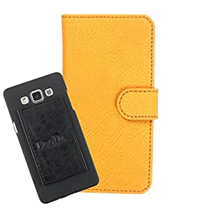 DooDa PU Leather Wallet Flip Case Cover With Card & ID Slots For Spice X-Life 364 - Back Cover Not Included Peel And Paste