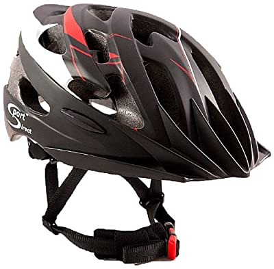 Sport DirectTM 21 Vent Bicycle Mens Cycle Bike Helmet Adult Red/Black 58-60cm Conforms To EN-CE 1078, TUV Tested by Sport DirectTM