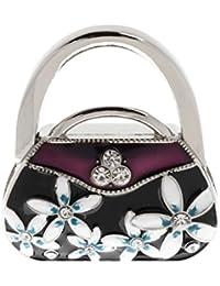 Folding Bag Handbag Purse Hook Table Hanger Holder Handbag-Shape (Purple)