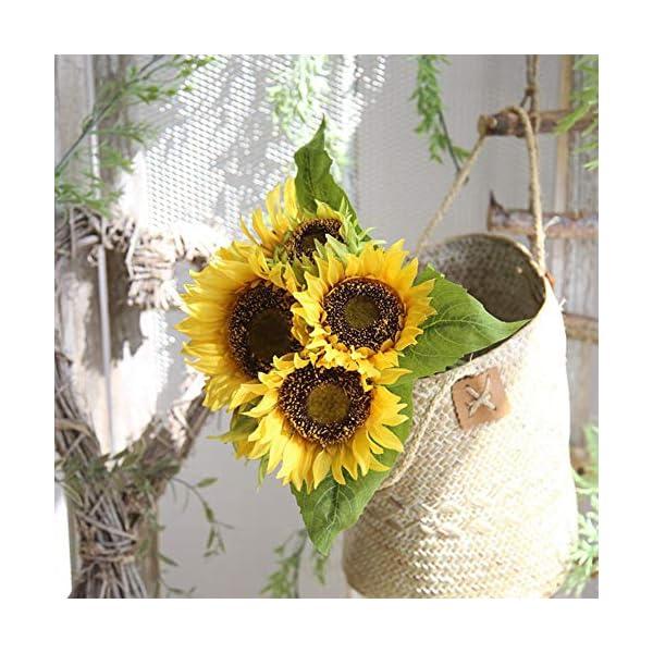 Asien La Flor Artificial de la simulación del Ramo del Girasol de DIY Crafts fotografía apoya Inicio del Ornamento