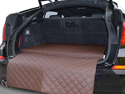 Autoschondecke - Kofferraum Schutzdecke - Auto - Hundebett in Braun Kunstleder