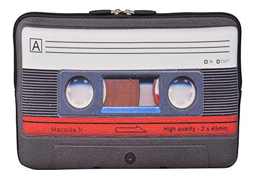 MySleeveDesign Laptoptasche Notebooktasche Sleeve für 10,2 Zoll / 11,6-12,1 Zoll / 13,3 Zoll / 14 Zoll / 15,6 Zoll / 17,3 Zoll - Neopren Schutzhülle mit VERSCH. Designs - Cassette [11-12] (Laptop Schutzhülle 15 6 Skins)